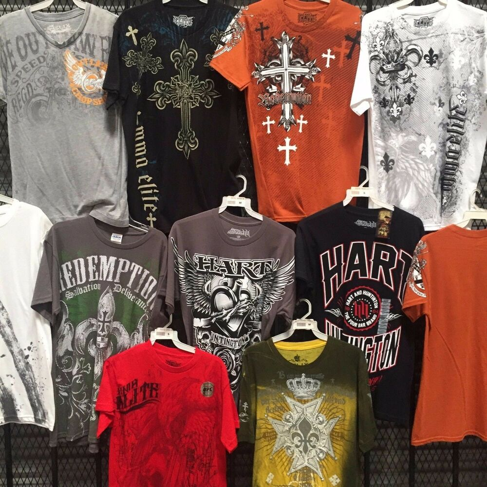 wholesale mens clothing tshirts closeout mma type 50pcs