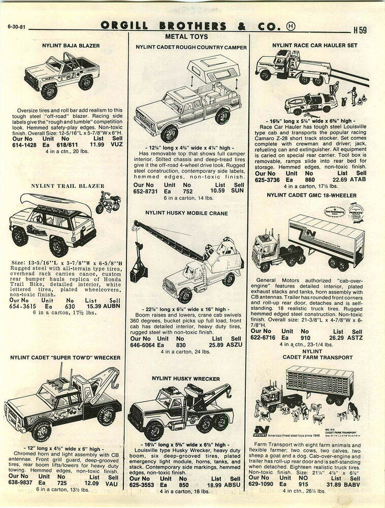 1981 advert nylint toy tow wrecker truck cadet ford bronco. Black Bedroom Furniture Sets. Home Design Ideas