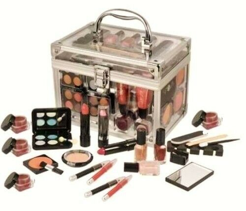 Carry All Trunk Professional 48 Piece Makeup Kit Gift Set Cosmetics Groom Women | EBay