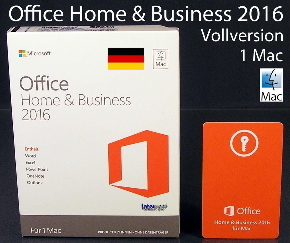 microsoft office home business 2016 vollversion box 1 mac deutsch ovp neu ebay. Black Bedroom Furniture Sets. Home Design Ideas