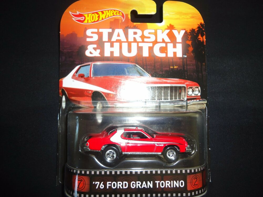 Hot Wheels Ford Gran Torino 1976 Starsky and Hutch BDT77-996K 1/64 on
