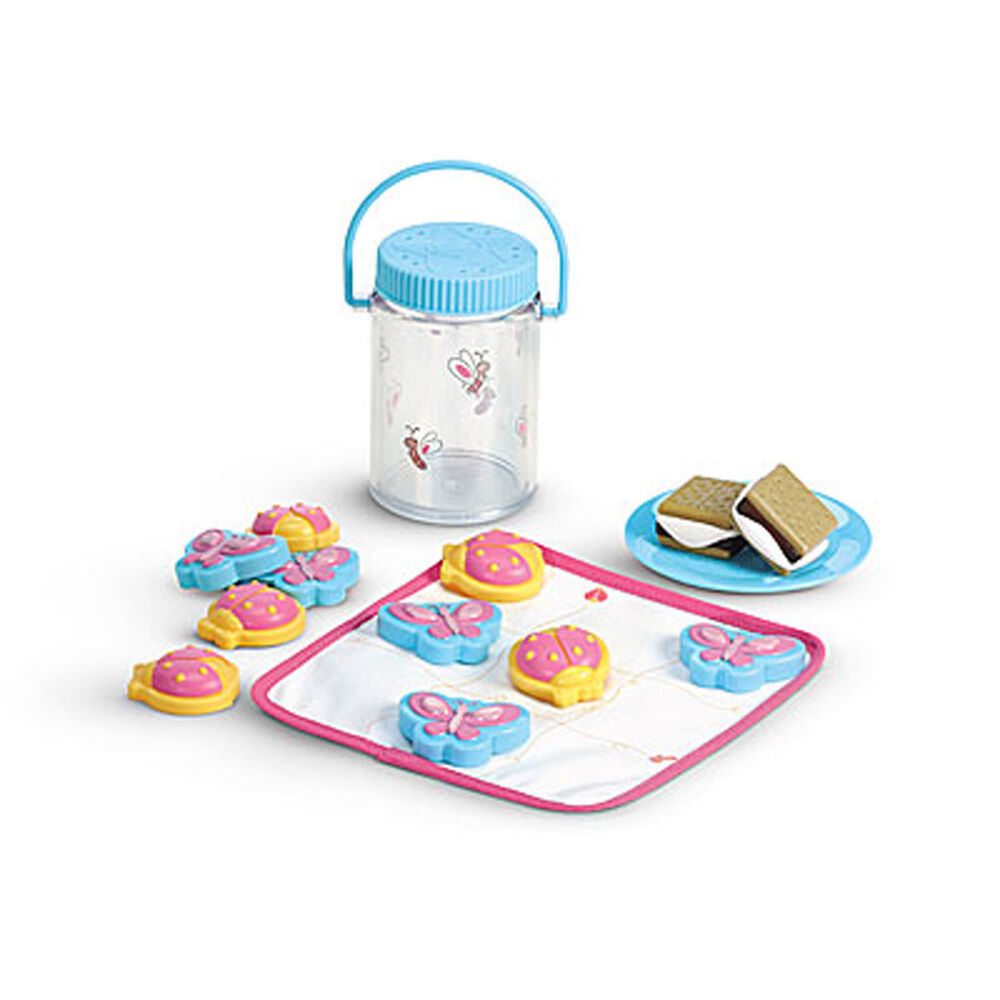 new american girl doll bitty baby twin 39 s camping play set food smores bug jar ebay. Black Bedroom Furniture Sets. Home Design Ideas