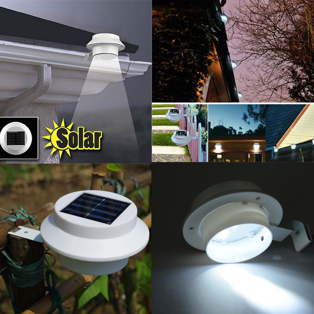 Solar Lights Roof: SOLAR POWERED OUTDOOR GARDEN Yard Post Light Fence