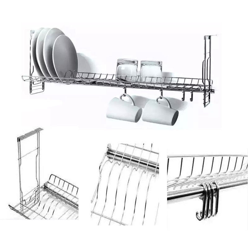 cabinet drying rack stainless dish drying sink cabinet fixing rack ladle cup 12847