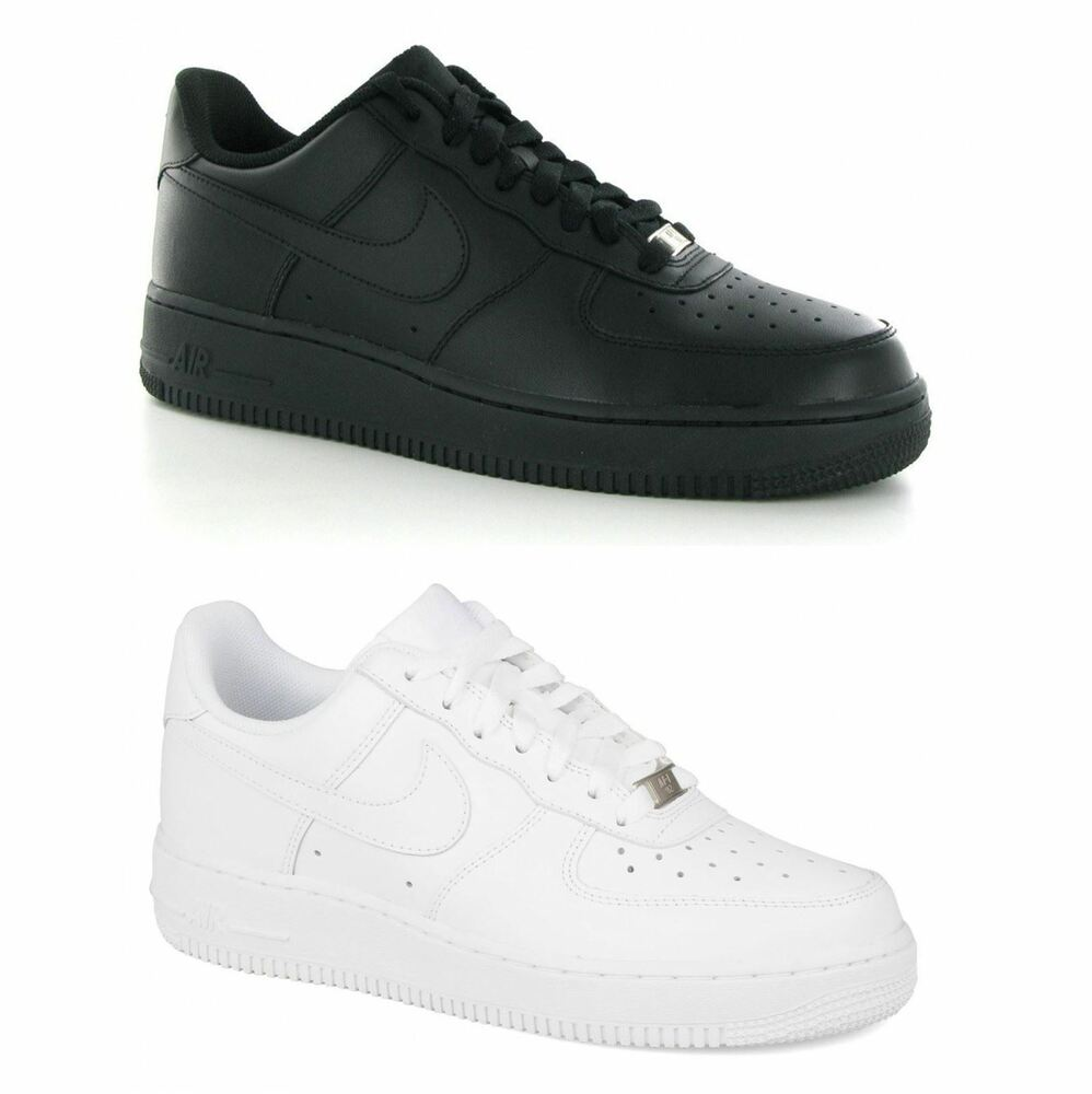 nike air force 1 low leather mens trainers ebay. Black Bedroom Furniture Sets. Home Design Ideas