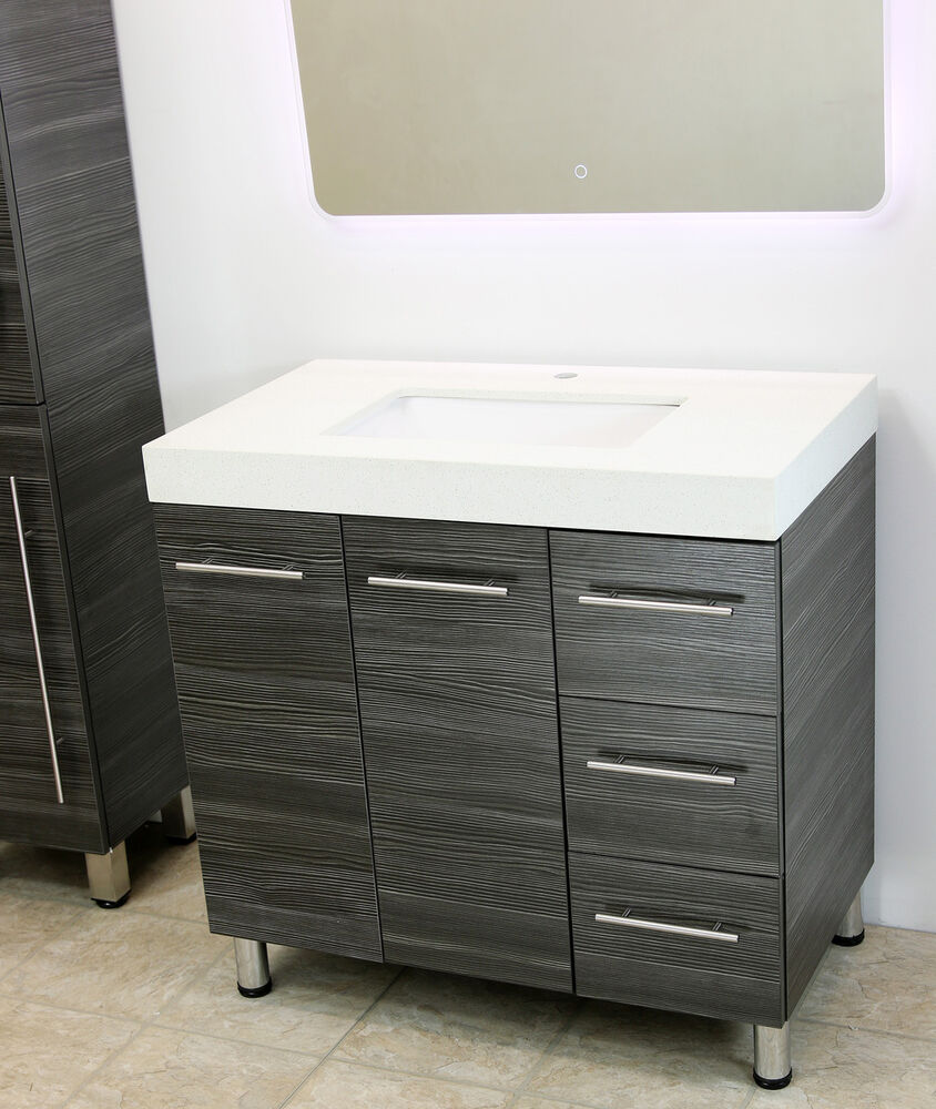 Windbay 48 Free Standing Bathroom Vanity Sink Set Vanities Sink Dark Grey Ebay
