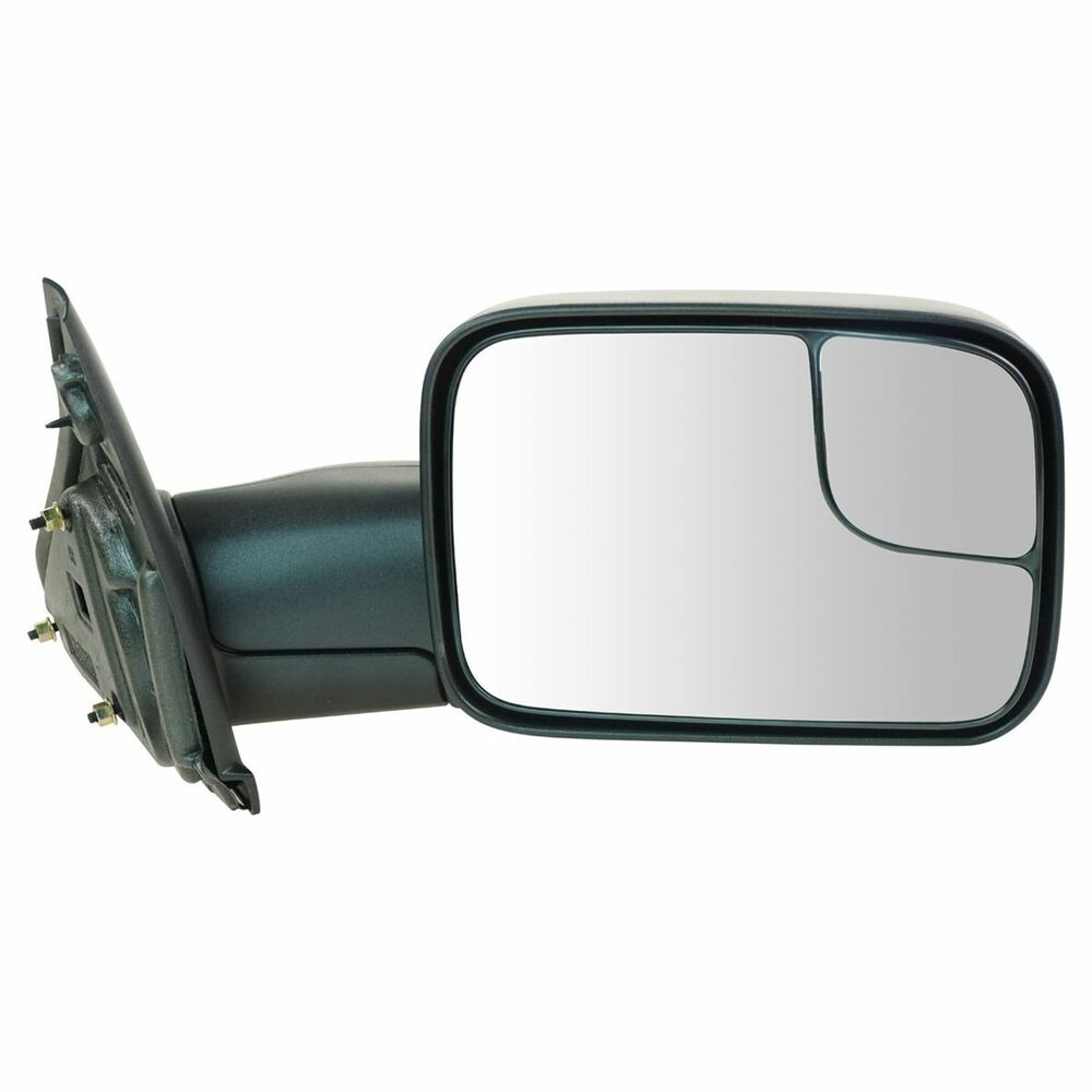 Vehicle Towing Mirrors : Side view door mirror towing manual flip up passenger