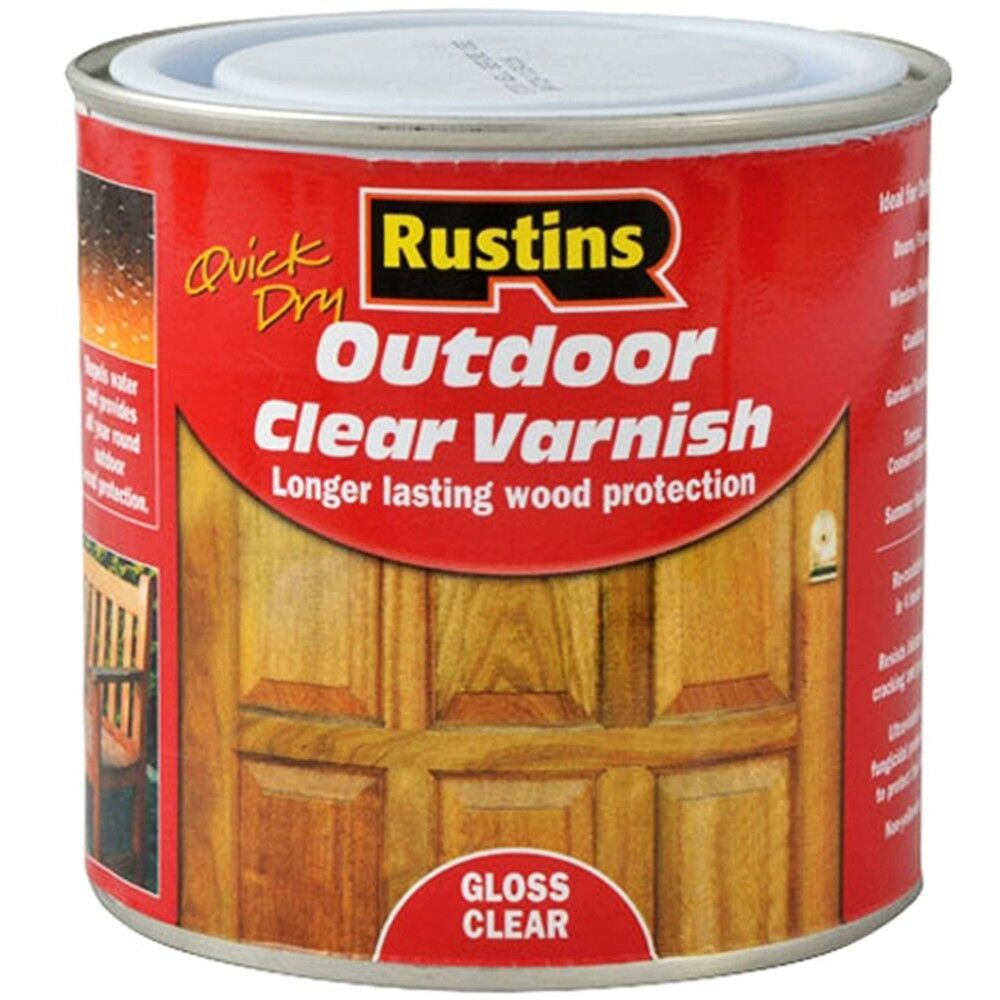 Rustins Quick Drying Outdoor Clear Varnish Gloss 1 Litre