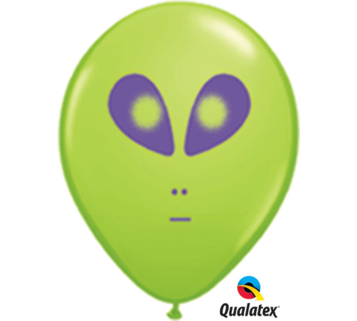 Space alien latex balloon