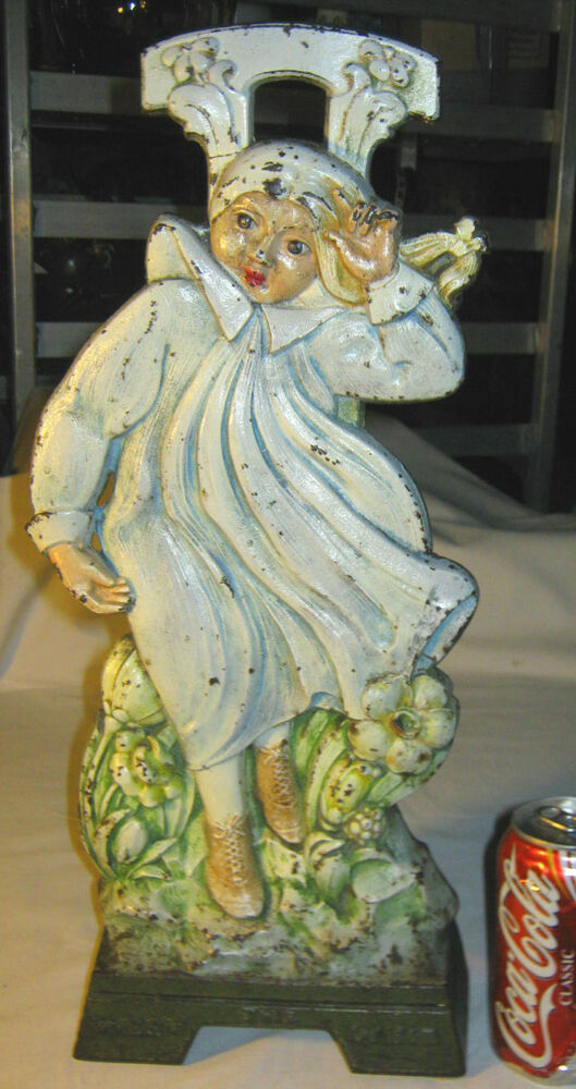 Antique Cjo Judd Cast Iron Girl Toy Doll Art Statue