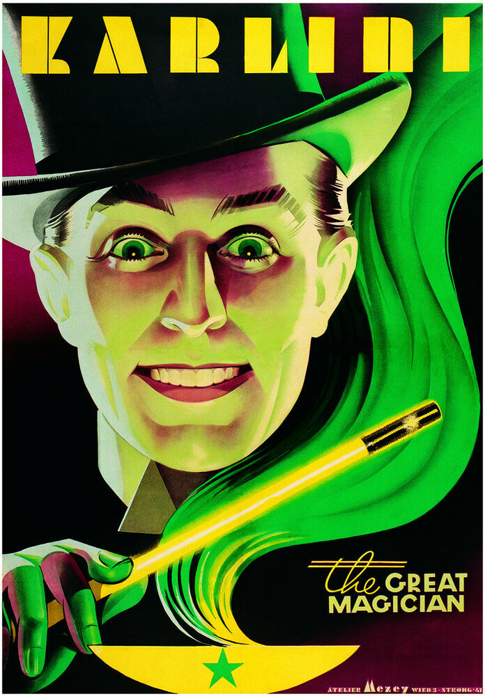 Magician From The Crystal Visions Tarot: VINTAGE MAGIC POSTER ART PRINT