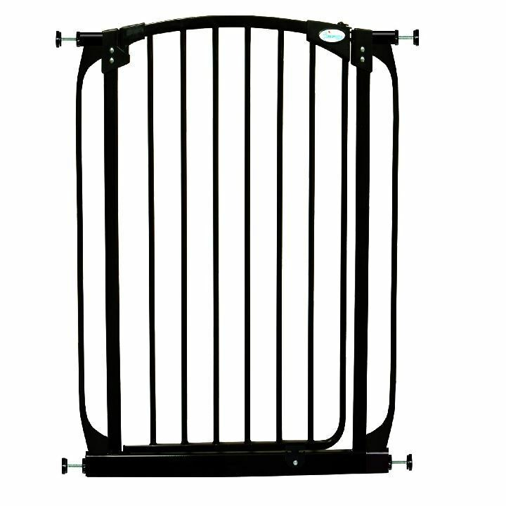 Dreambaby Extra Tall Stair Gate Swing Closed Black Safety