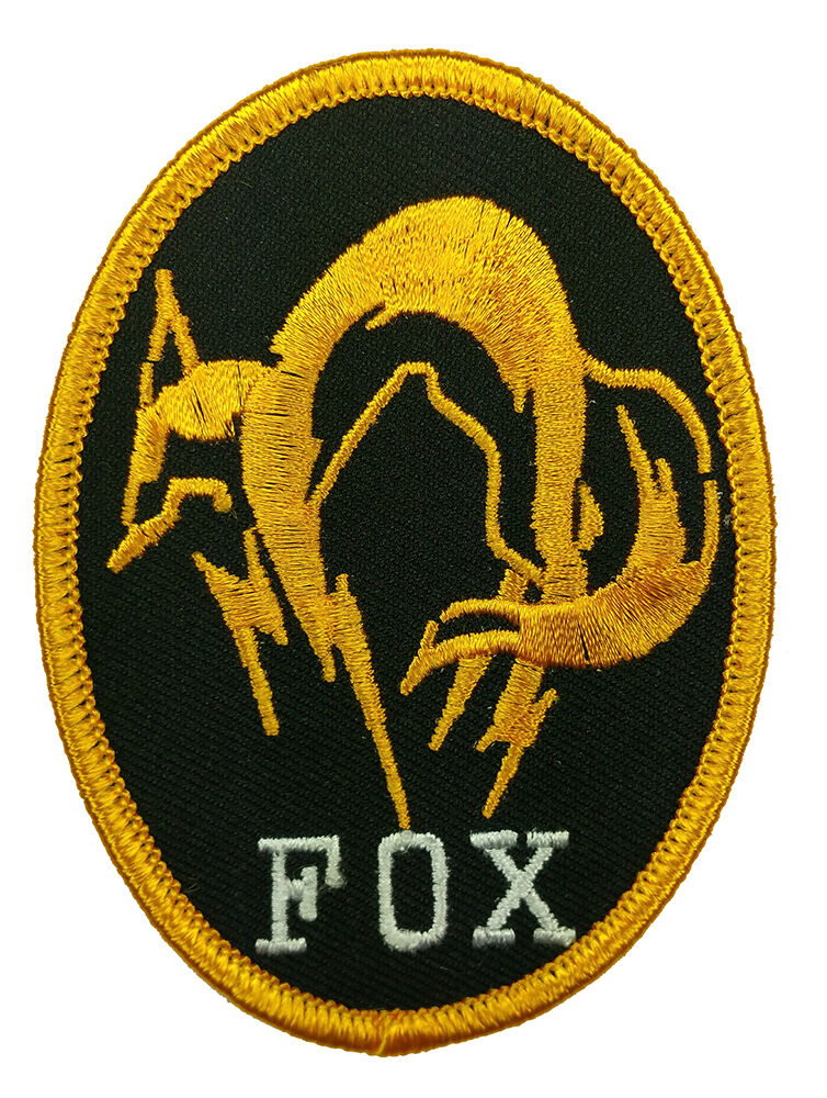 METAL GEAR SOLID FOX HOUND PS4 EMBROIDERED IRON ON PATCH ...