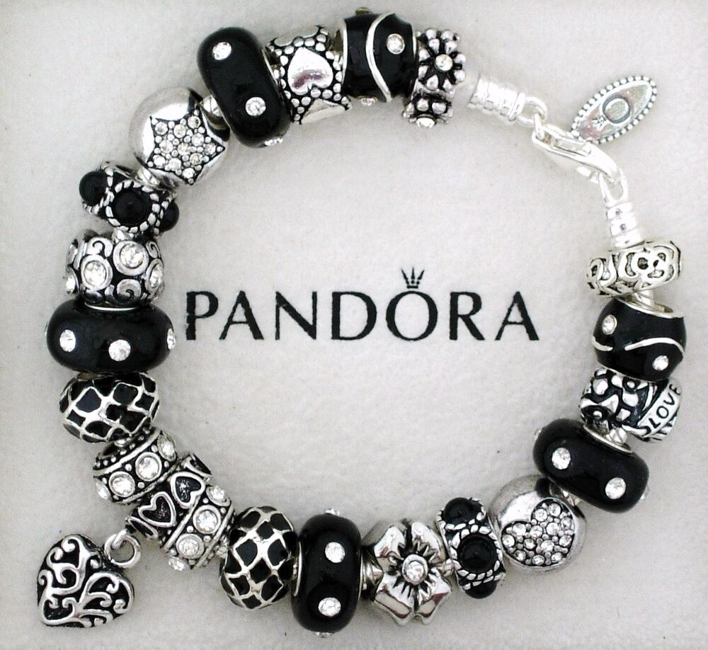 Metal Charm Bracelets: Authentic Pandora Sterling Silver Bracelet With Heart Love
