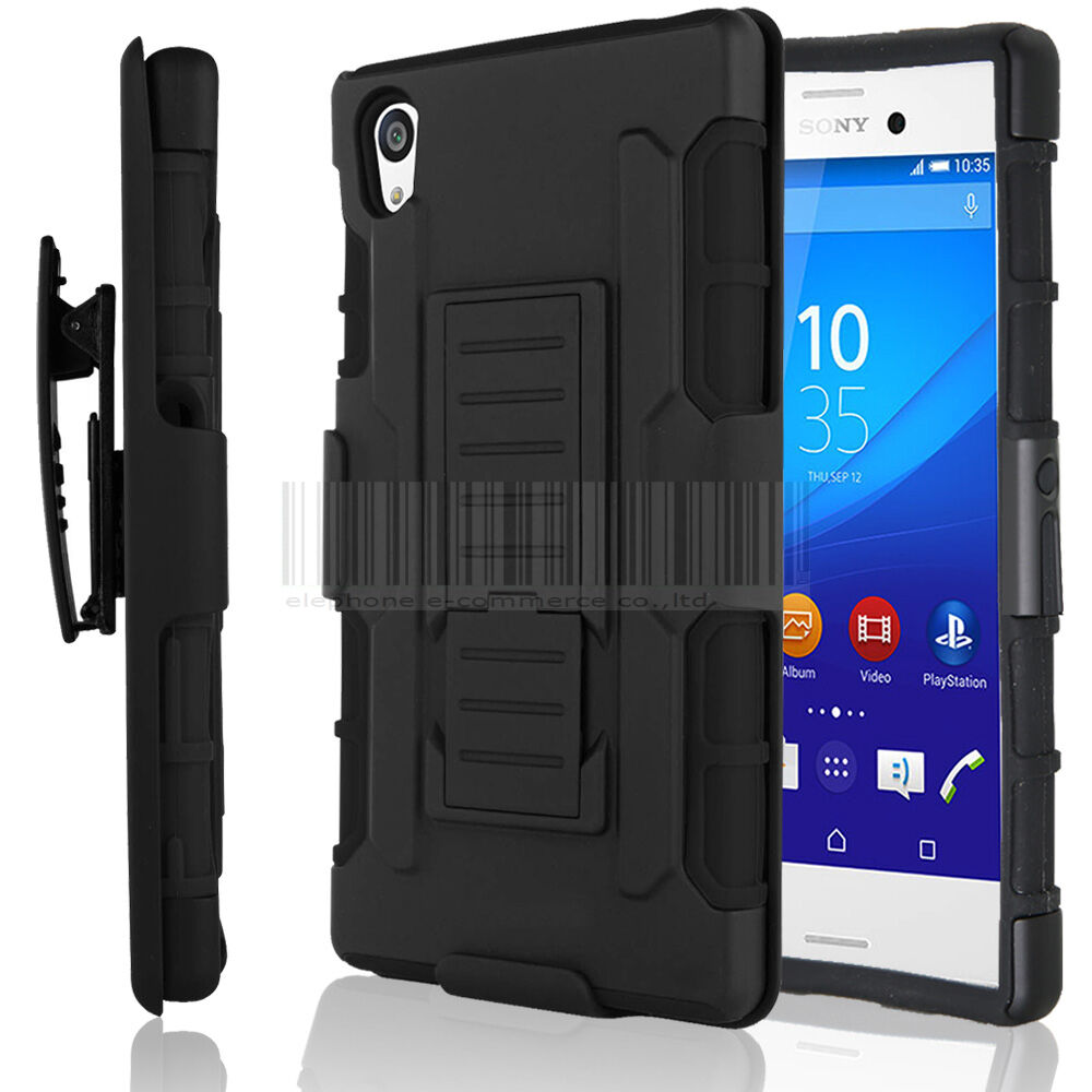 Rugged Hybrid Armor Case Protective Cover Clip Holster For
