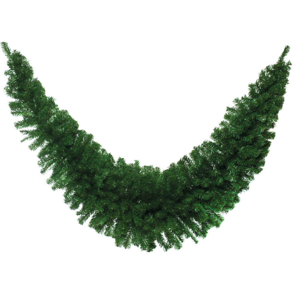 M deluxe christmas party natural green pine tinsel swag