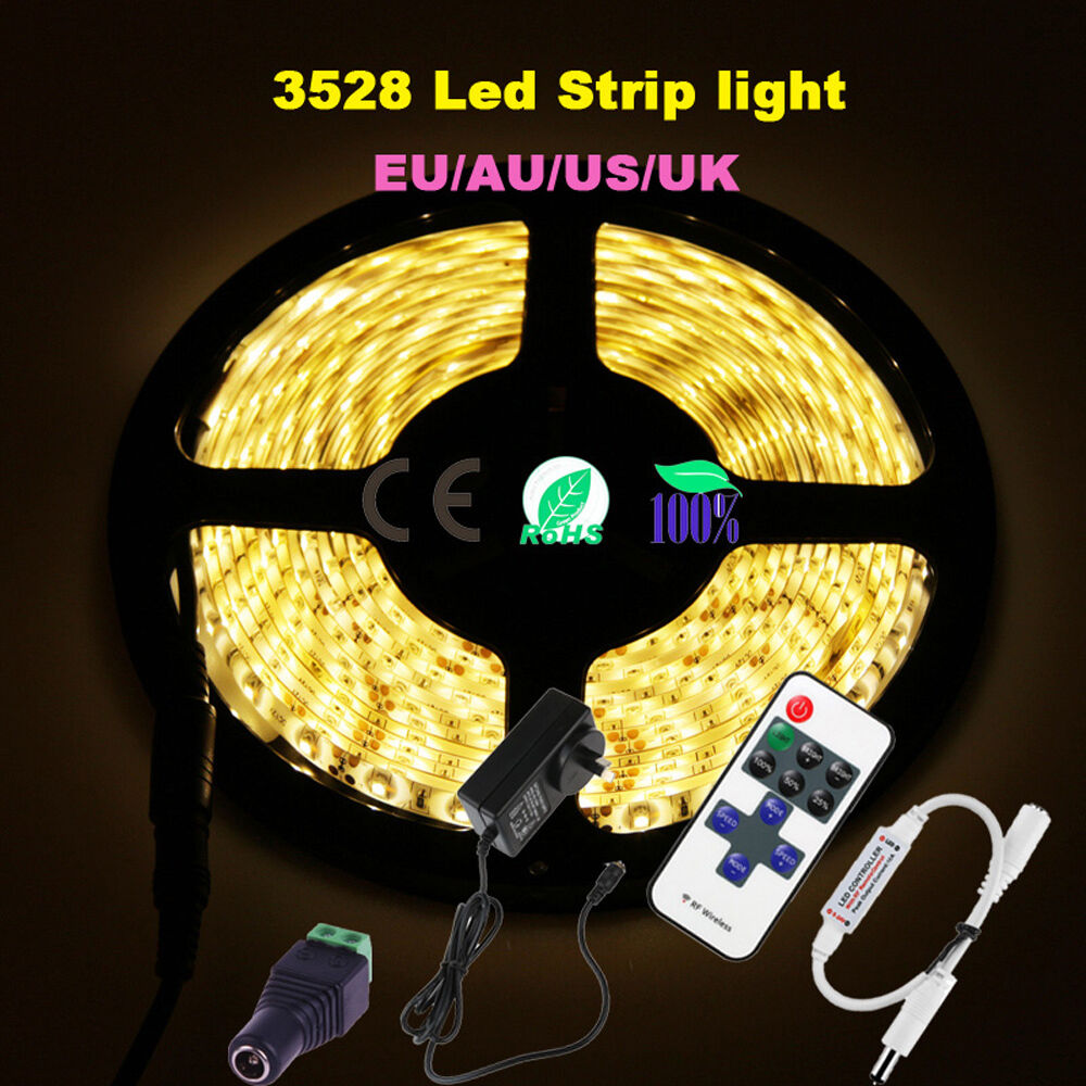 Dimmable 5m 3528 300 Smd Flexible Led Strip Light Warm
