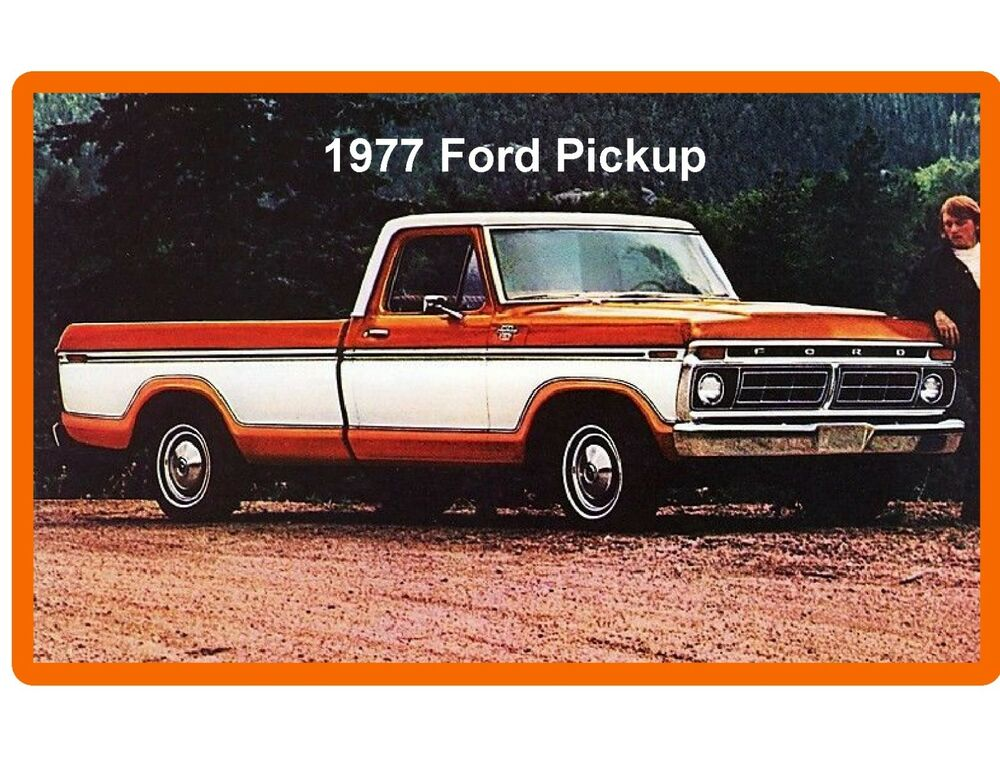 1977 ford pickup truck styleside refrigerator tool box magnet ebay. Black Bedroom Furniture Sets. Home Design Ideas