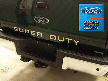 ford f250 super duty tailgate letters inserts stickers years 2008 2016 ebay. Black Bedroom Furniture Sets. Home Design Ideas