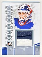 Mike Richter 2010-11 ITG Between The Pipes Golden Goalies Jersey Silver Card /20