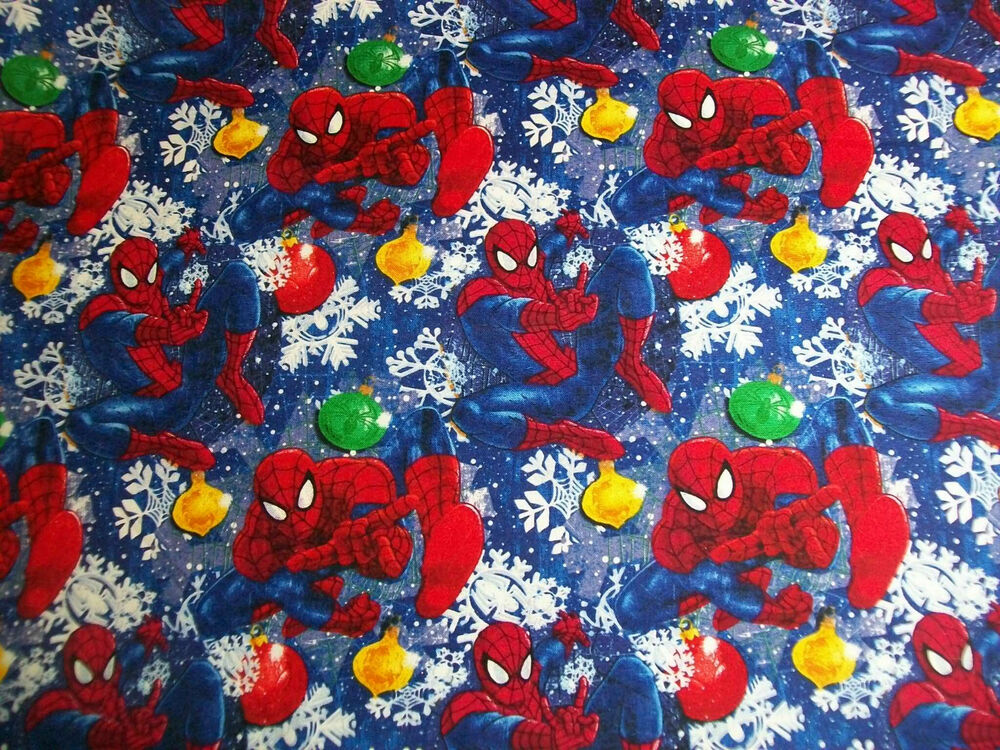Spiderman Christmas Fabric 100 Cotton Quilts Crafts