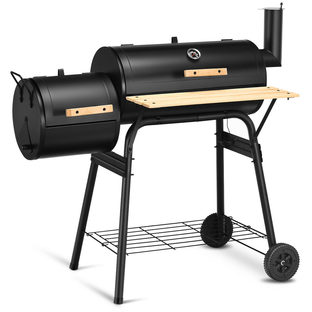goplus outdoor bbq grill charcoal barbecue pit patio backyard meat cooker smoker ebay. Black Bedroom Furniture Sets. Home Design Ideas