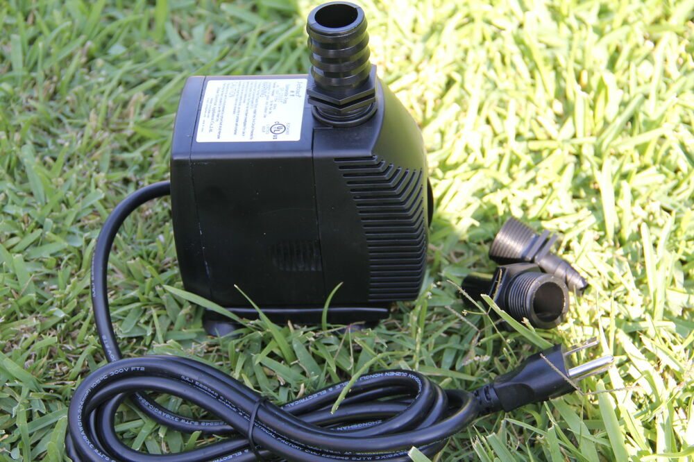 Long lasting 800gph submersible pump fountain pond for Goldfish pond pump