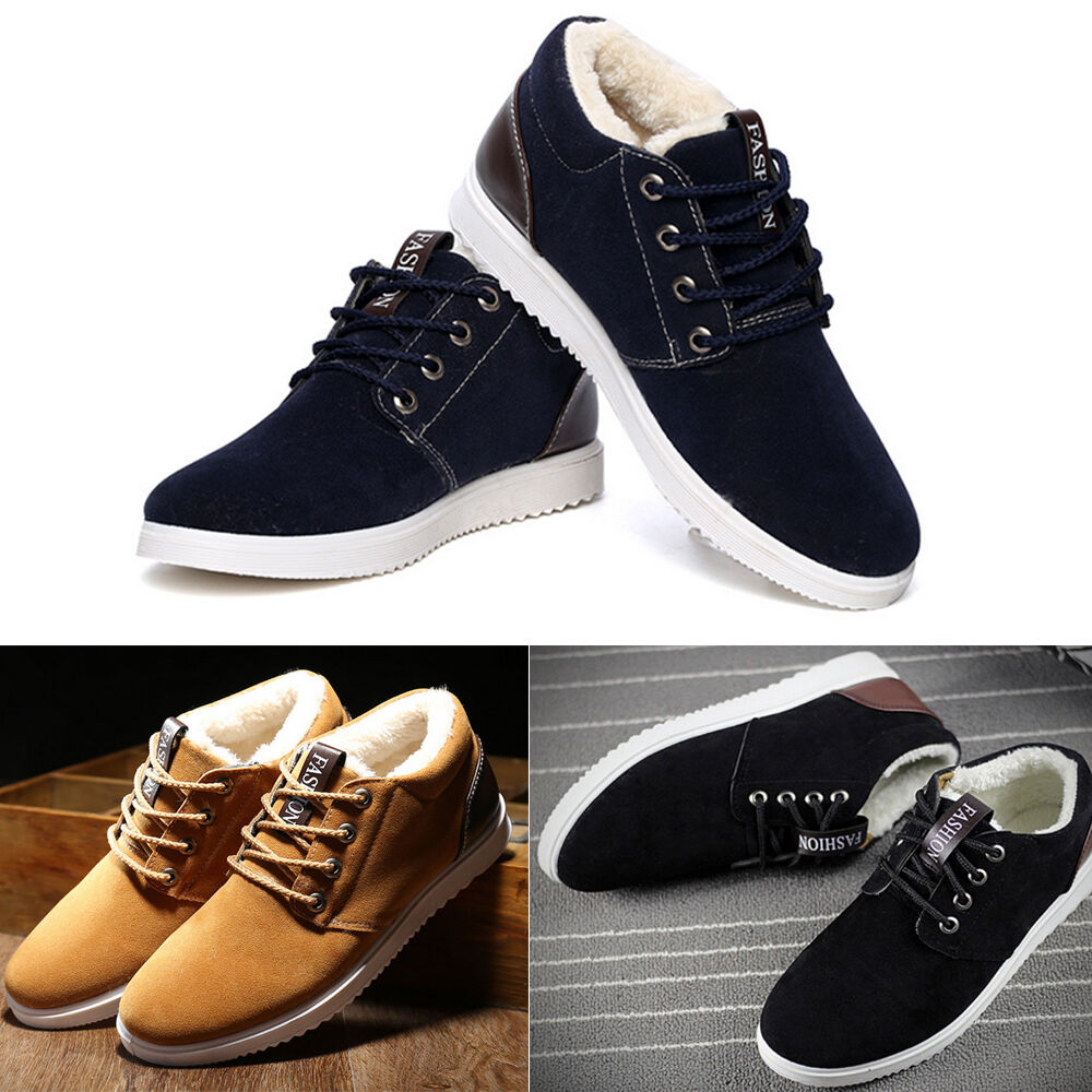 herren winter schuhe sneaker turnschuhe outdoor sportschuhe freizeitschuhe 39 44 ebay. Black Bedroom Furniture Sets. Home Design Ideas