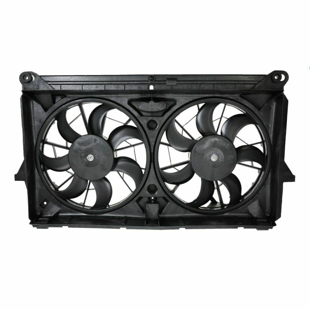 Radiator Cooling Dual Fan W Motors Blades For Gmc Chevy