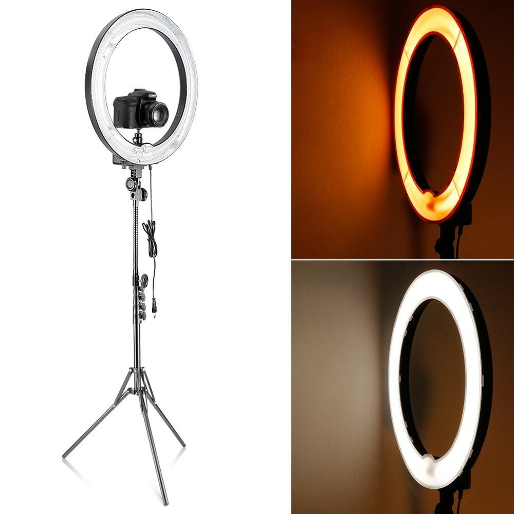"""Fluorescent Light Ring: Neewer Camera 18"""" Diameter 600w (75W) Dimmable Ring"""