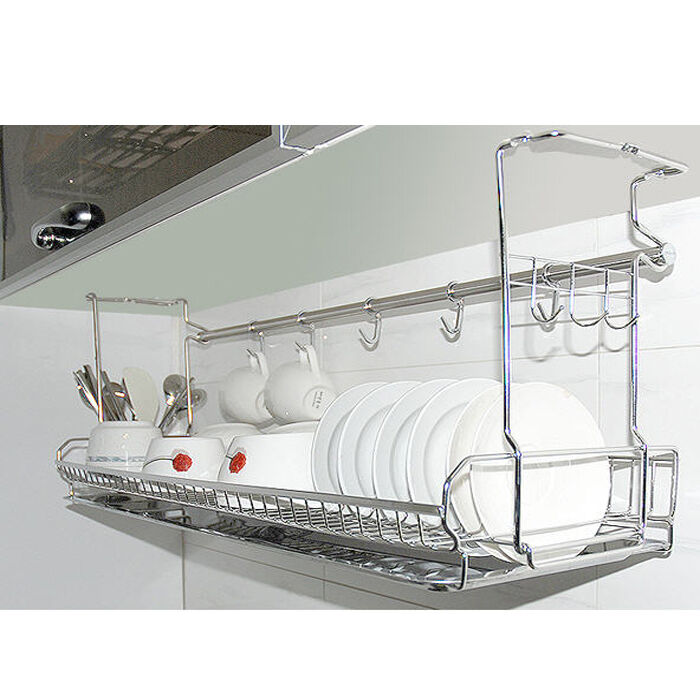 Stainless dish drying fixing rack ladle cup spoon shelf sink kitchen organizer ebay - Kitchen sink drying rack ...