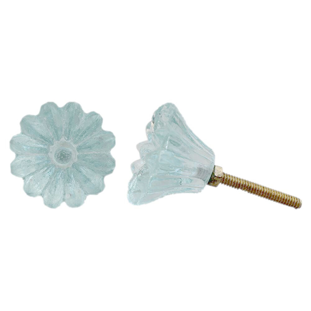 8 blue glass cabinet knobs kitchen drawer pulls furniture hardware daisy k62 ebay Glass furniture pulls