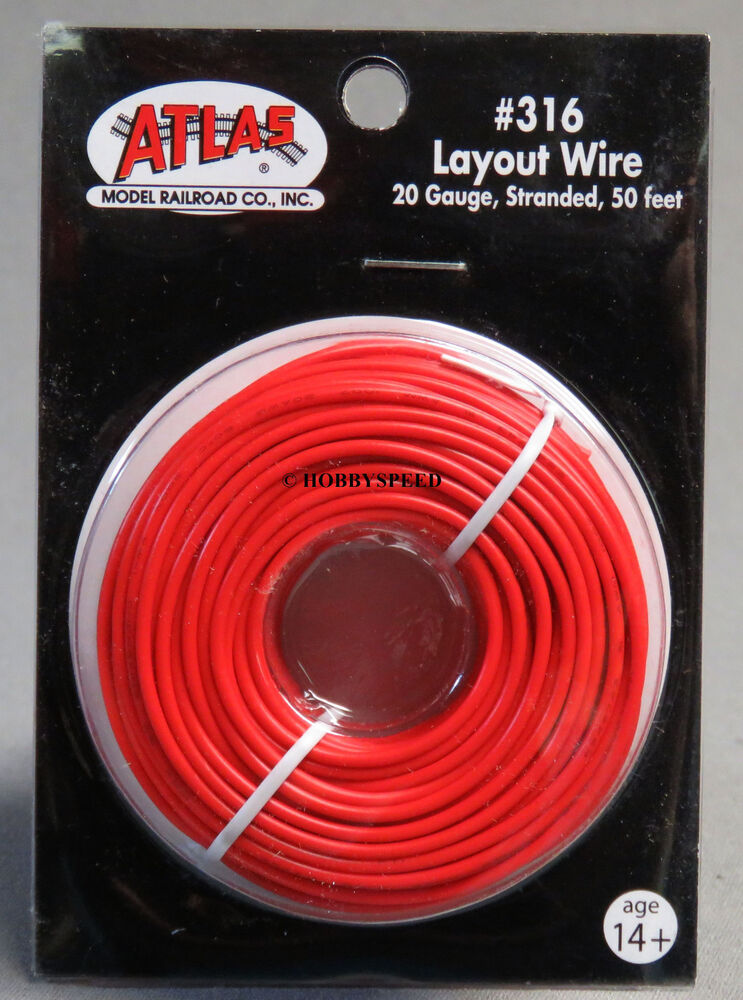 Atlas Ho Amp O Gauge Track Layout Wire 20 Gauge Stranded 50