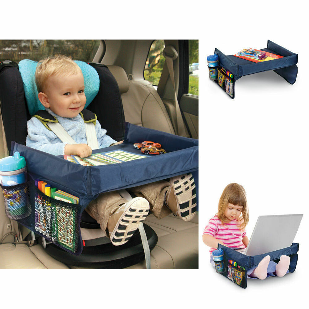 Portable Safety Kids Car Seat Travel Tray Activity Drawing Board Table 6997845585578 Ebay