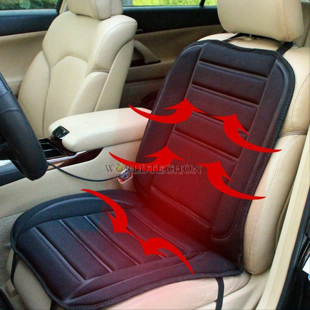 universal car heated seat cushion cover 12v heating heater warmer pad winter ebay. Black Bedroom Furniture Sets. Home Design Ideas