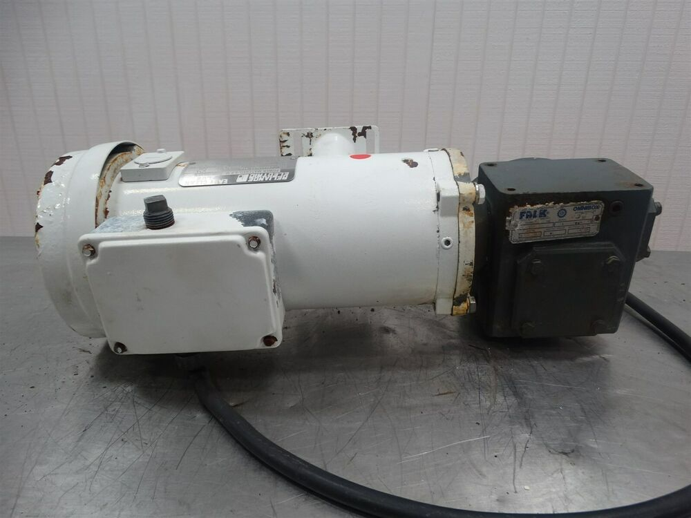 Reliance electric t56s1704a ej motor 90v 3 4hp 1750rpm w for Electric motor with gearbox