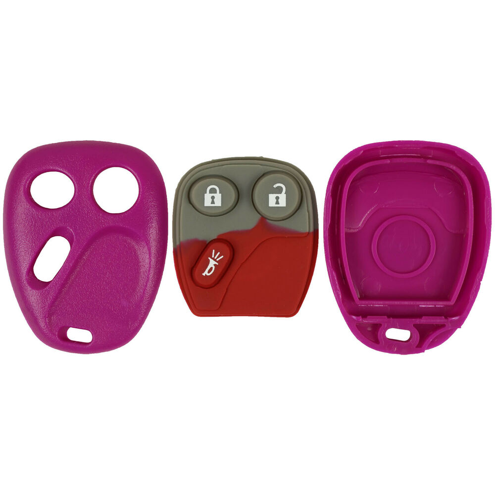 New Replacement Keyless Remote Car Key Fob Pad Shell Case Housing Cover Hot Pink | eBay