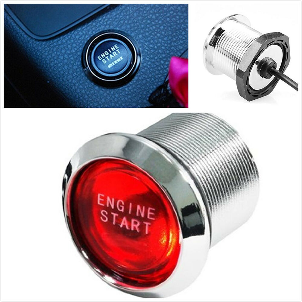 Push To Start Button Ignition: 12V Car Engine Start Push Button Switch Ignition Starter