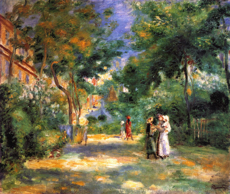 impressionismus renoir im garten von montmartre faksimile 18 auf b ttenpapier ebay. Black Bedroom Furniture Sets. Home Design Ideas