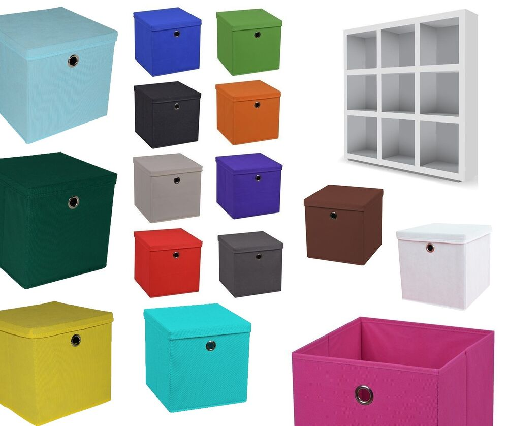 faltbox aufbewahrungsboxen deckel korb einschubkorb faltboxen kinder box boxen ebay. Black Bedroom Furniture Sets. Home Design Ideas