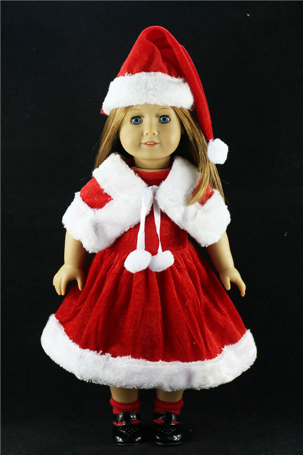 2017 christmas clothes dress for 18inch american girl doll children