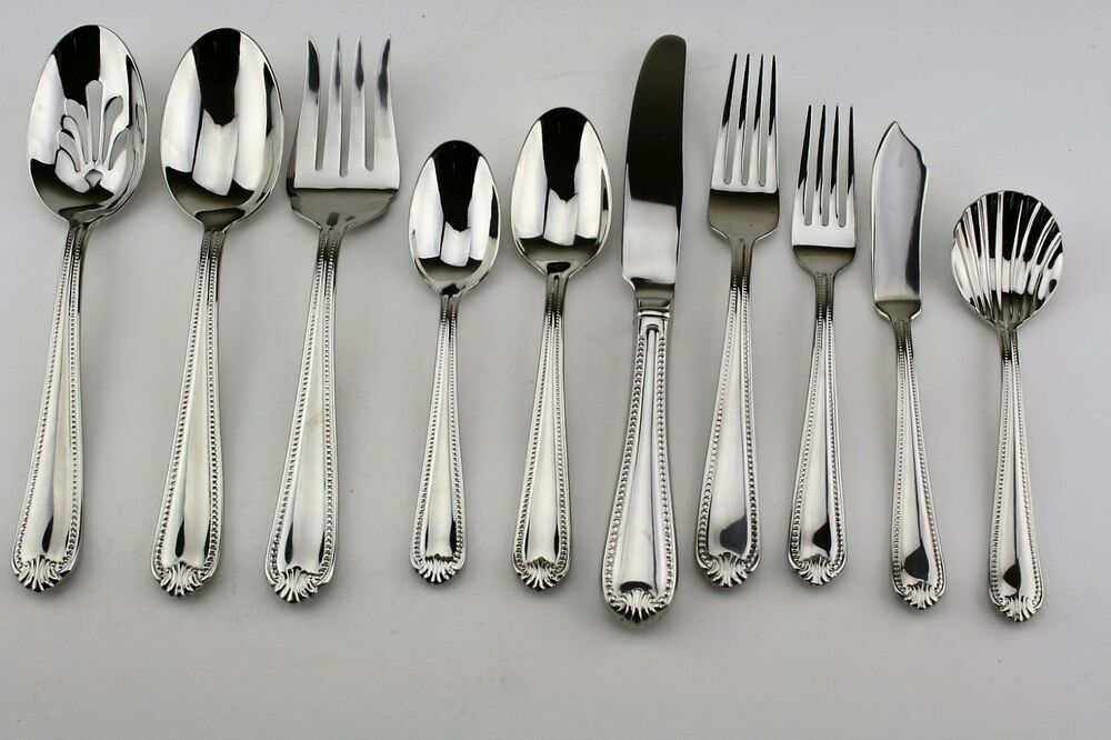 Lenox Classic Bead Used 18 10 Stainless Flatware Your