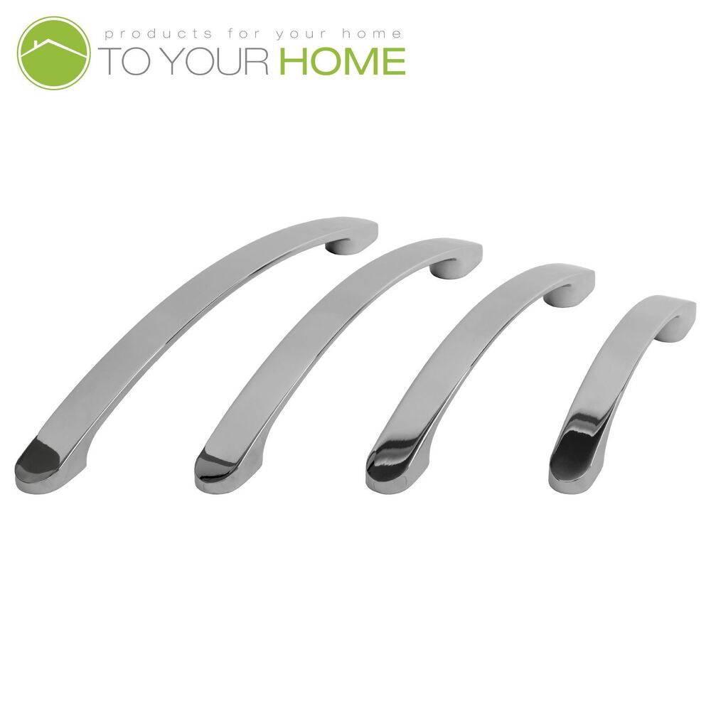 kitchen cabinet door handle bowed chrome kitchen cupboard cabinet drawer door handles 18535