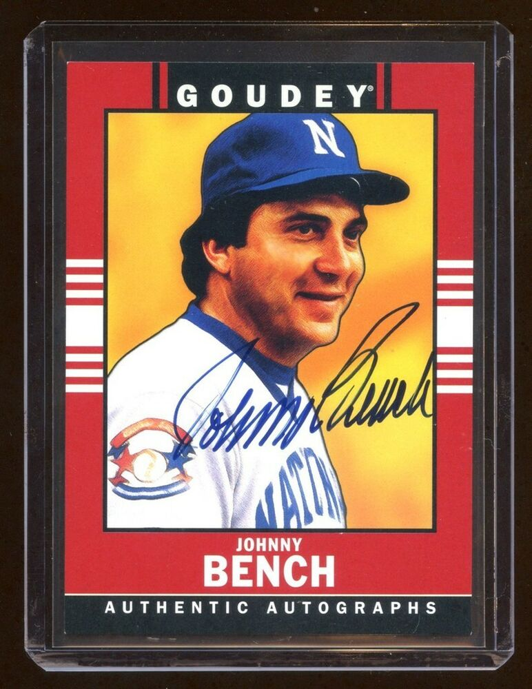 2014 Goudey Johnny Bench Autograph Auto Sp Rare Find Hof Goodwin Champions Ebay