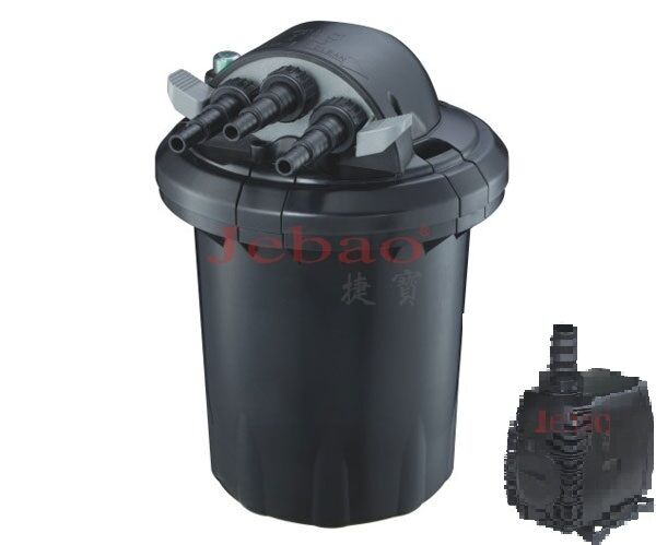 1500 gal bio pressured fish pond filter built in 13w uv for Fish pond pumps and filters