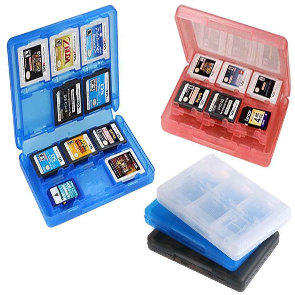 Nintendo 3ds Game Card : In game card case holder cartridge storage box for