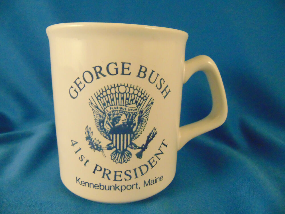 Vintage george bush 41st president coffee tea mug cup for Home decor 41st