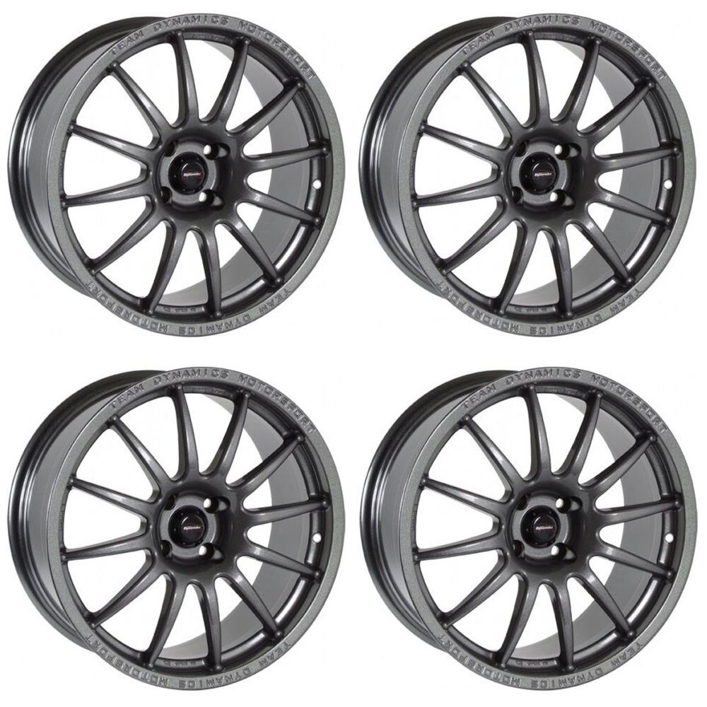 4 x team dynamics anthracite pro race 1 2 alloy wheels. Black Bedroom Furniture Sets. Home Design Ideas