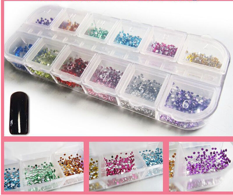 Women Decorat Manicure Wheel Supplies Nail Art Rhinestones