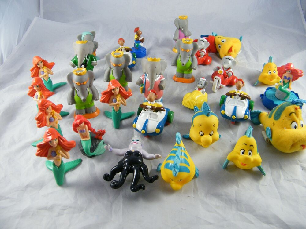 Little Food Toys : Lot of mcdonald s little mermaid happy meal toys arby